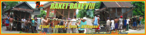 Raket Baxe'y is the iconic picture of the Filipino Bayanihan spirit of community involvement and helpfulness. 'Raket' is a Boie'nen word that literally means 'shift'; BAXE'Y means HOUSE.